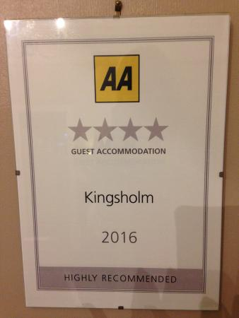 Kingsholm Hotel: Silver 4* Award