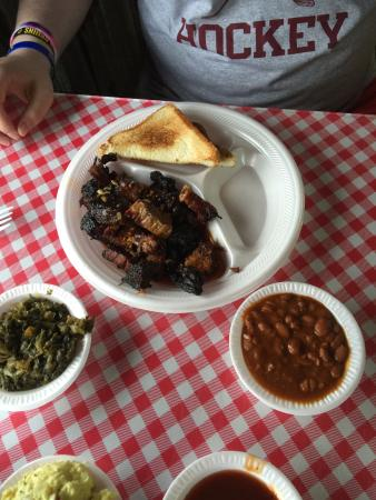 Denison, TX: Two Meat Plate (Both meats Burnt Ends)