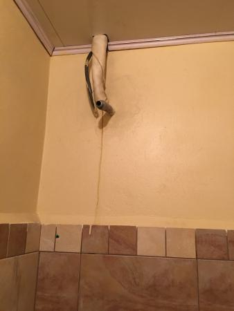 Inn Flight Suites : This place is the worst hotel I even stayed at. This is a the shower. I slipped and fell from th