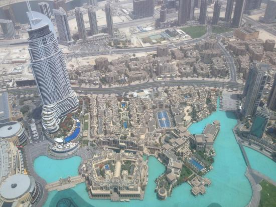 View of Dubai from the top floor