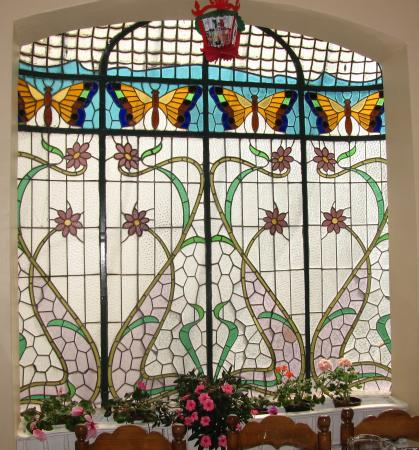 Hotel Casa Gonzalez : Stained glass in the dining room