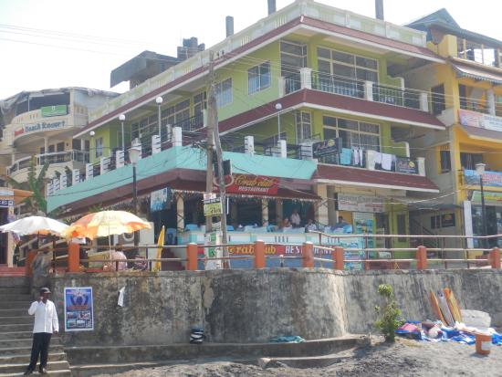 The Crab Club as viewed from the beach.