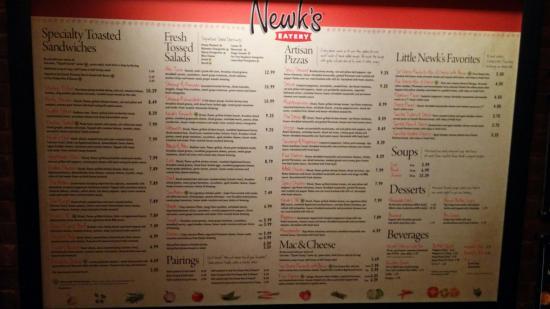 Epic image inside newks printable menu