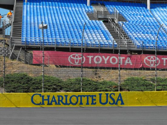 Me in victory lane picture of charlotte motor speedway for Charlotte motor speedway concord parkway south concord nc