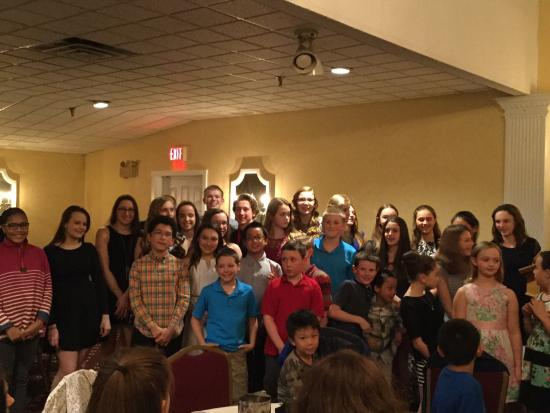 Swim team banquet for Guilderland ymca