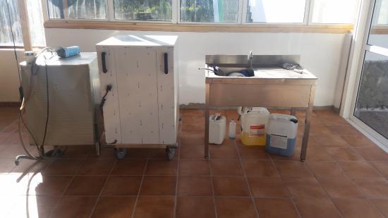 Apartamentos Guacimeta Lanzarote: this is the dinning room