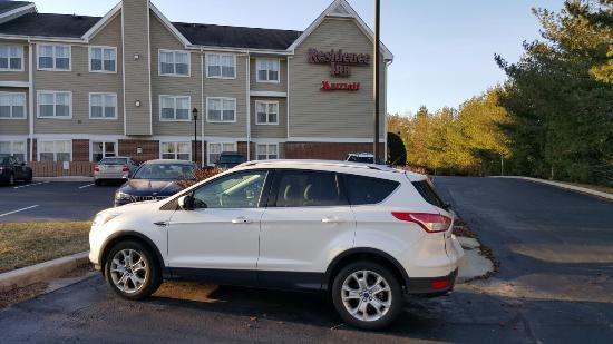 Residence Inn Columbia: Foto vanaf de parkeerplaats