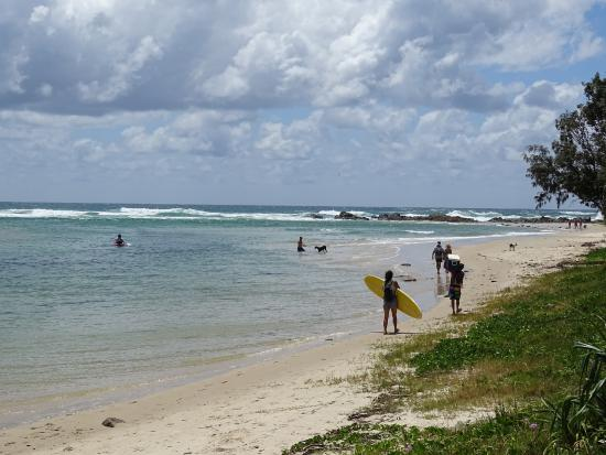 Hastings Point, Australia: Overgang creek naar oceaan