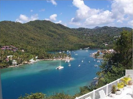 The Inn On The Bay: Beautiful Marigot Bay from The Inn