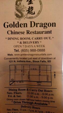 Golden Dragon Sioux Falls Menu Prices Restaurant