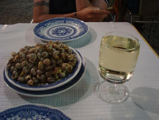 Evora District, Portugal: Caracois and vinho verde