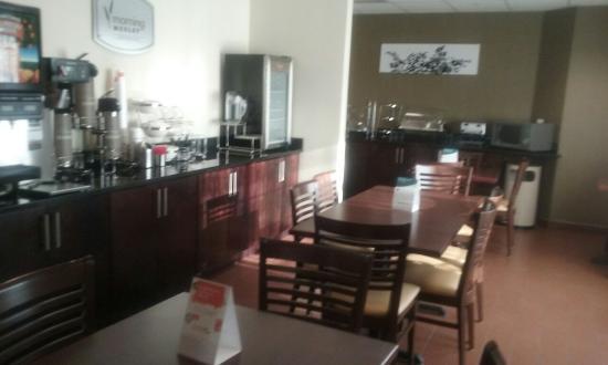 Lobby is beautiful. Dining room is very nice. Looks like the Sleep Inn is doing some wonderful t