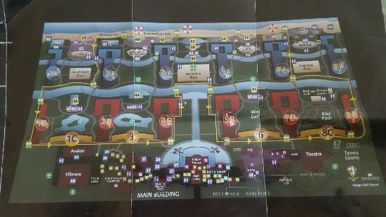 Map of the grounds  Picture of Hard Rock Hotel  Casino Punta