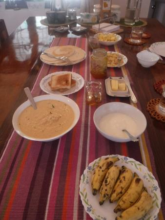 Mundax Homestay Yoga Retreat: Delicious breakfast!