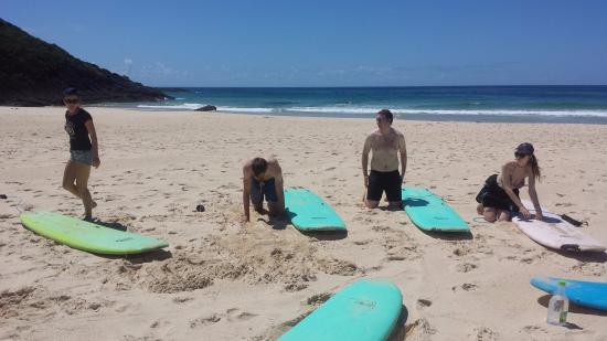 Waves Surf School: No pain, no gain))