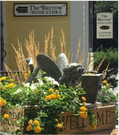 Concord, MA: The Barrow Bookstore reading fairy welcomes you.