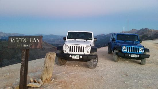 Mountain Village, CO: Colorado 145 Jeep Rentals on top of Imogene Pass