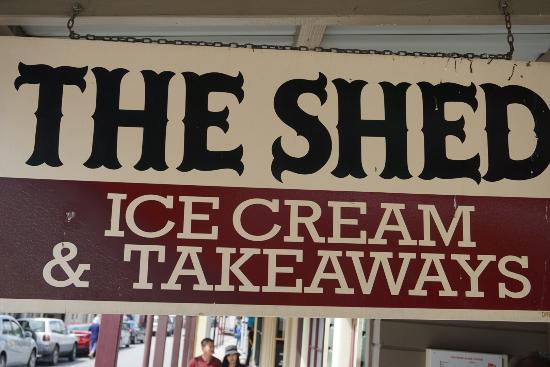 The Shed Ice Cream Parlour & Takeaway: View