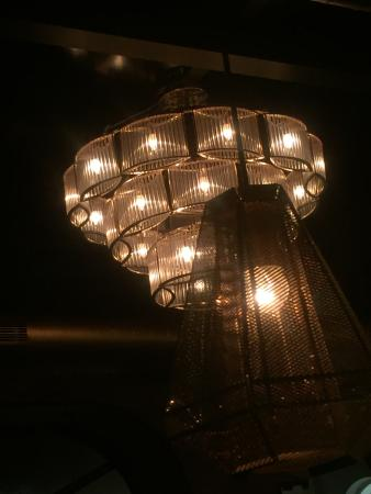 The unusual light fixtures and chandeliers