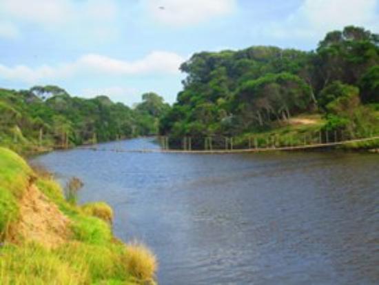 La Coronilla, Uruguay: Puente Colgante