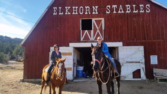 Elkhorn Lodge and Guest Ranch : Lodge Horse View