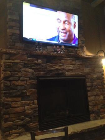 patio tv and fireplace picture of world of beer cary tripadvisor rh tripadvisor com