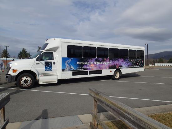 Green Bank, Virginia Occidental: Bus tour