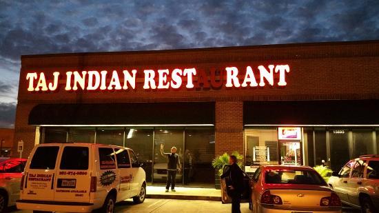 Front For Taj Indian Restaurant Houston