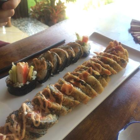 "The non deep fried one is the ""shrimp tempura roll"" and the deep fried one is Kami Kami"