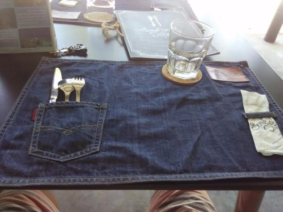 Something Diffe A Beachside Cafe Jean Table Cloth I Like It