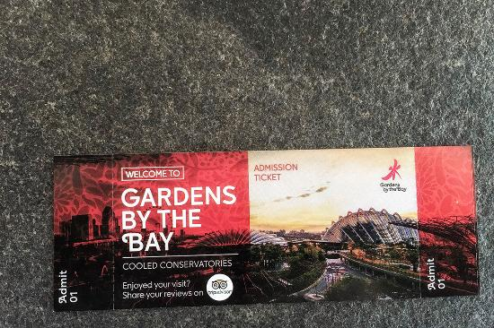 Garden By The Bay Admission flower dome - entrance tickets. - picture of gardensthe bay