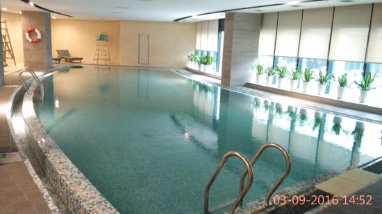 indoor gym pool. Hyatt House Shenzhen Airport: Large Indoor Swimming Pool And Gym Is Next Door.