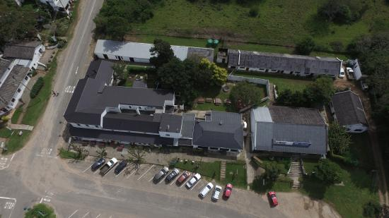 The Historic Pig and Whistle Restaurant: the first known drone photo of South Africa's oldest pub