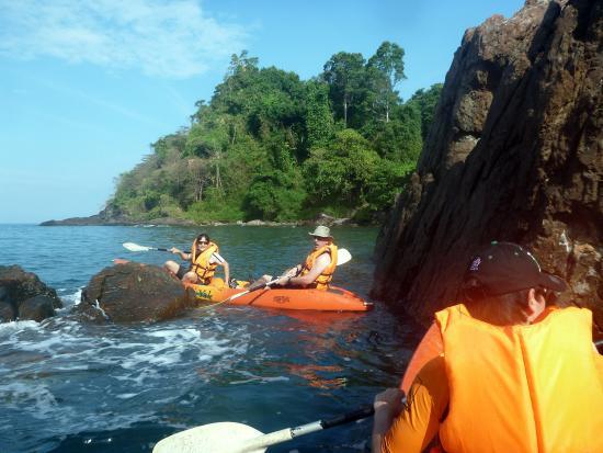 Chai Chet Resort: free sea kayaks on offer, with beautiful rocky coastline to explore