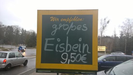Werneuchen, Tyskland: Hinweisschild