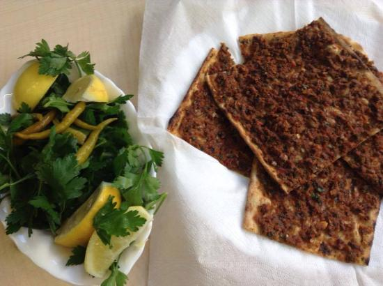 Tas Firini Uzun: The most perfect Lahmacun outside of Turkey.  This is the only place to eat Lahmacun in Germany!