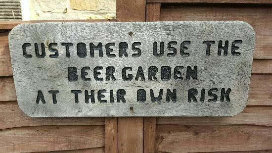 Sleights, UK: Beer garden is great