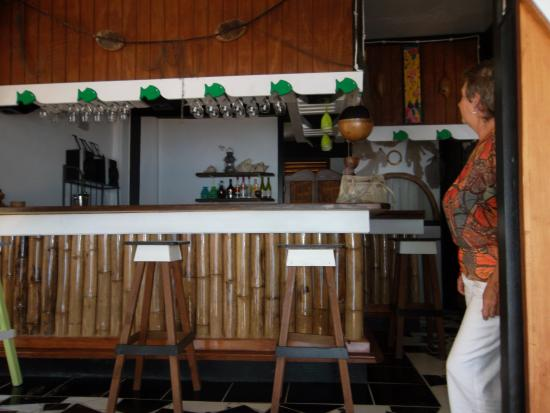 Calibishie, Dominica: The Bar.