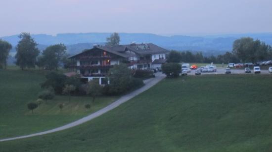 Seiserhof: Blick auf dei Seiser-Alm am Abend