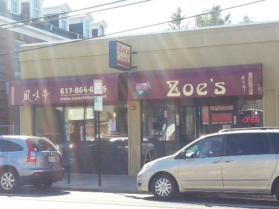 Zoe's Gourmet Chinese Cuisine: Outside
