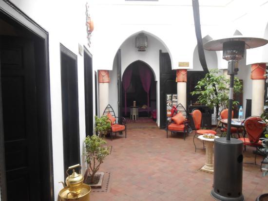 Riad Minorisa: Le hall d'accueil