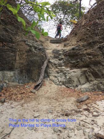 Playa Blanca ( White Beach ): This is the small trail to climb from Playa Mantas to Playa Blanca.