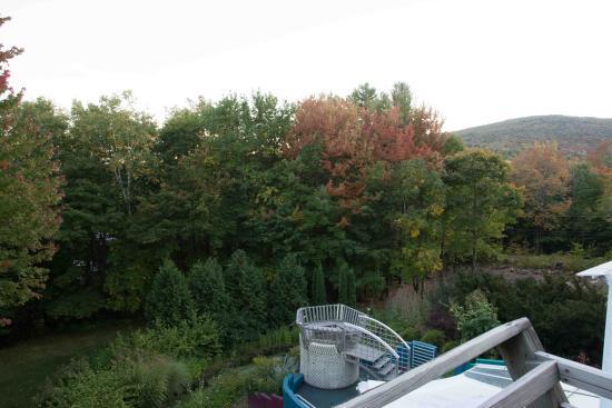 Windham, Vermont: Aussicht von der Zimmerterrase