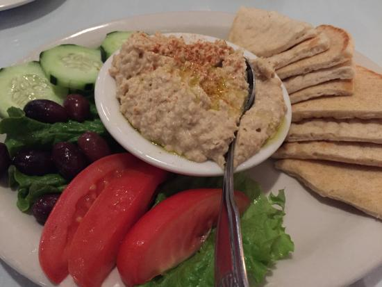 Hummus and pita picture of troy 39 s authentic greek for Authentic greek cuisine