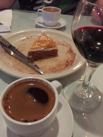 Baklava and greek style coffee mmmmmmm picture of for Authentic greek cuisine