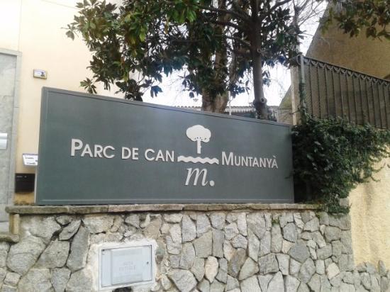 Caldes d'Estrac, Spain: Cartel entrada parque