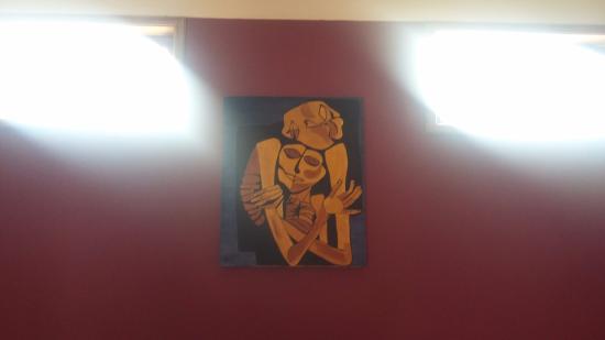 Hostal Galeria Hurvinek : Nuestra habitación tenía este bello cuadro. Inolvidable para nosotros.