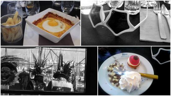 La Table du Yachting Club: petit montage du repas carnaval, plat une superbe Welsch et en dessert la tototte de ma Tante Ch