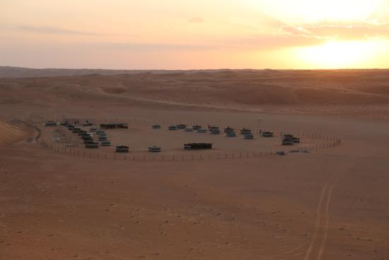 Desert Retreat Camp: Camp ground as the sun is about to set.