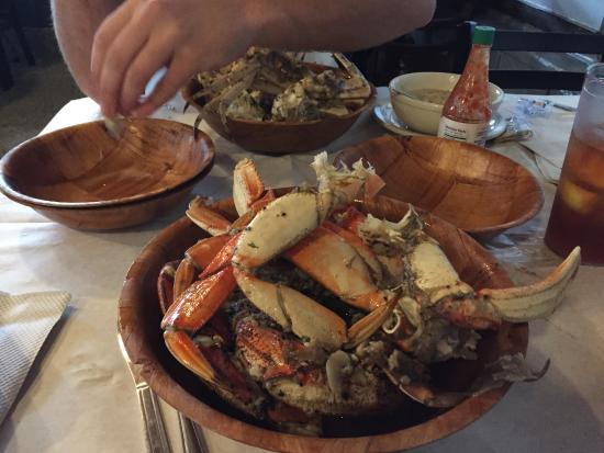 Golden garlic Dungeness Crabs!